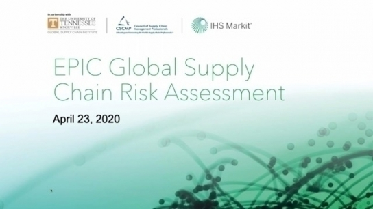 EPIC Global Supply Chain Risk Assessment - Report Release Webinar