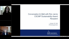 Conversation & Q&A with Ron Jarvis - CSCMP Sustainability Award Recipient