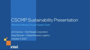 Conversation and Q&A with Intel – CSCMP's 2021 Supply Chain Sustainability Award Recipient