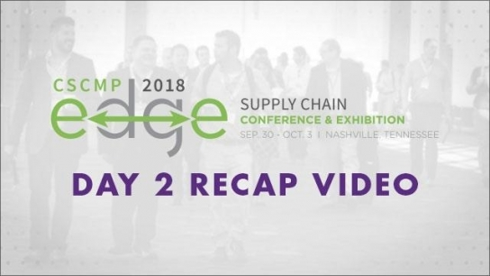 Transforming Conversations into Action at Day 2 of CSCMP'S 2018 EDGE